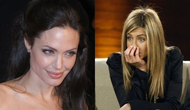 2-photos-people-cinema-Angelina Jolie Jennifer Aniston (montage)--