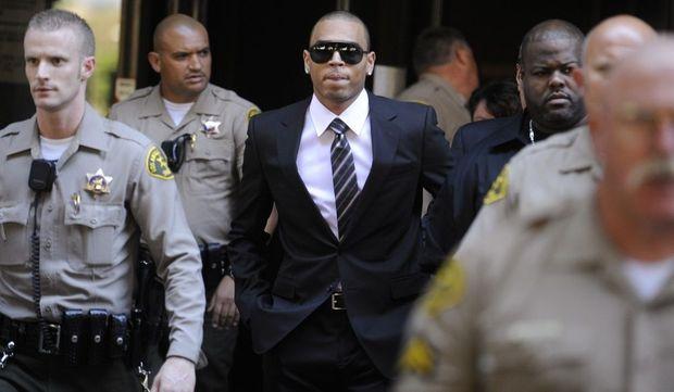 2-photos-people-musique-Chris Brown--Chris Brown arrivé au tribunal de Loas Angeles affaire Rihanna