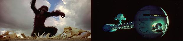 Le film s'ouvre sur une longue séquence muette présentant l'aube de l'humanité. Puis se déroule dans l'espace, où l'homme tente de conquérir de nouveaux mondes.