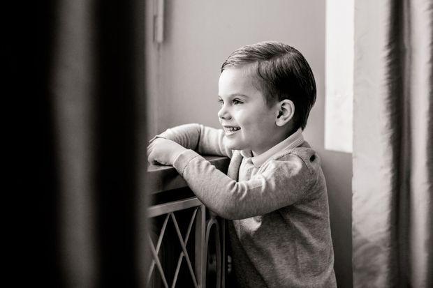 Le prince Oscar de Suède. L'une des deux photos diffusées pour ses 4 ans, le 2 mars 2020