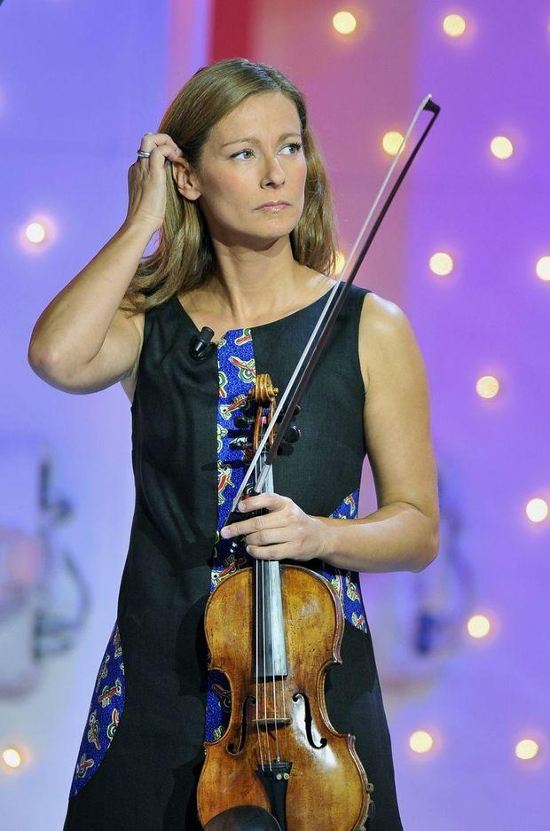 Anne Gravoin sur France 2, 2010.