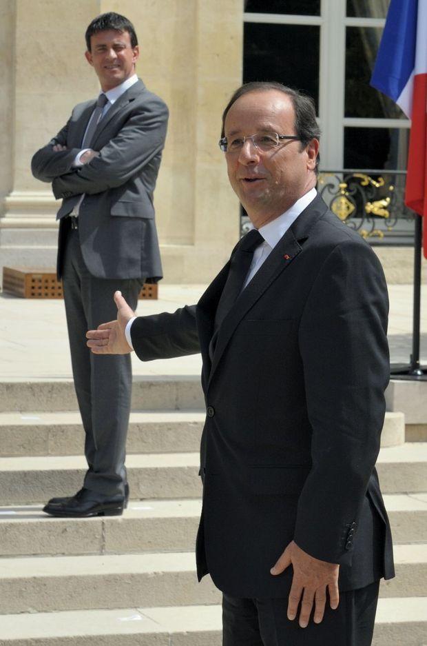 François Hollande et Manuel Valls à l'Elysée le 4 juillet 2012.