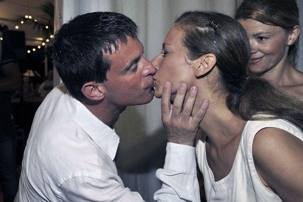 Manuel Valls et Anne Gravoin, son épouse, à Menton en 2013.