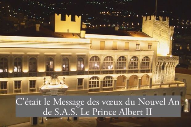 Le prince Albert a prononcé ses voeux depuis le palais de Monaco