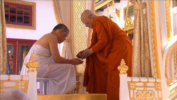 Le roi de Thaïlande Maha Vajiralongkorn lors de la cérémonie de son couronnement à Bangkok, le 4 mai 2019