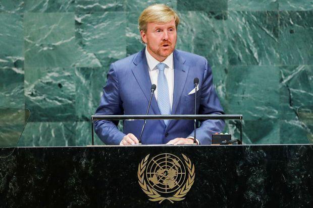 Le roi Willem-Alexander des Pays-Bas à l'ONU à New York, le 24 septembre 2019