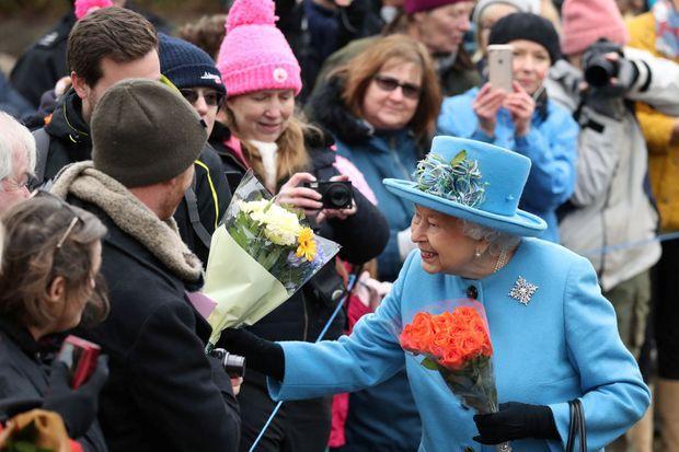 La reine Elizabeth II à West Newton, le 2 février 2020