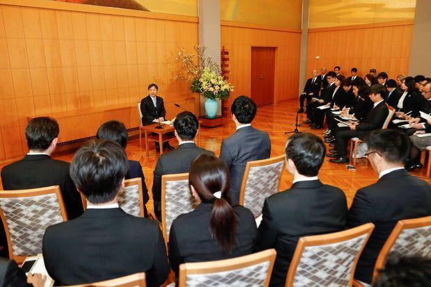 L'empereur Naruhito du Japon lors de la conférence de presse donnée pour son 60e anniversaire, le 21 février 2020 à Tokyo