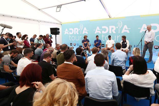 La conférence de presse organisée pour l'Adria Tour, le 12 juin.