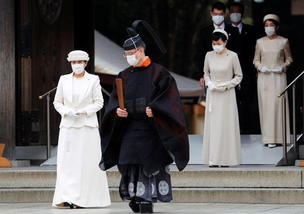 L'impératrice Masako du Japon à Tokyo, le 28 octobre 2020