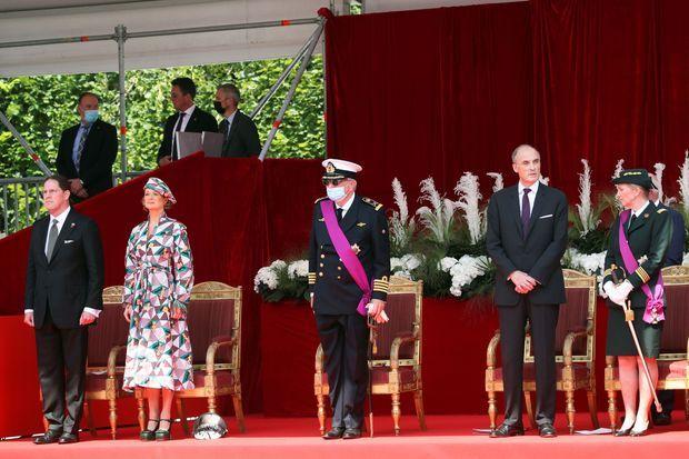 Le prince Laurent de Belgique en solo lors de la Fête nationale le 21 juillet 2021