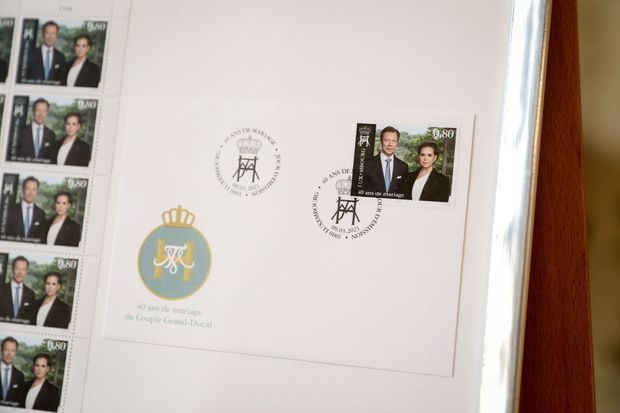 Le timbre de la Poste luxembourgeoise pour les 40 ans de mariage du grand-duc Henri et de la grande-duchesse Maria Teresa