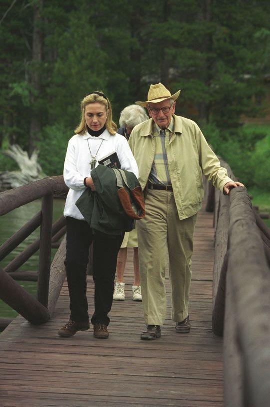 Hillary Clinton et Laurance Rockefeller