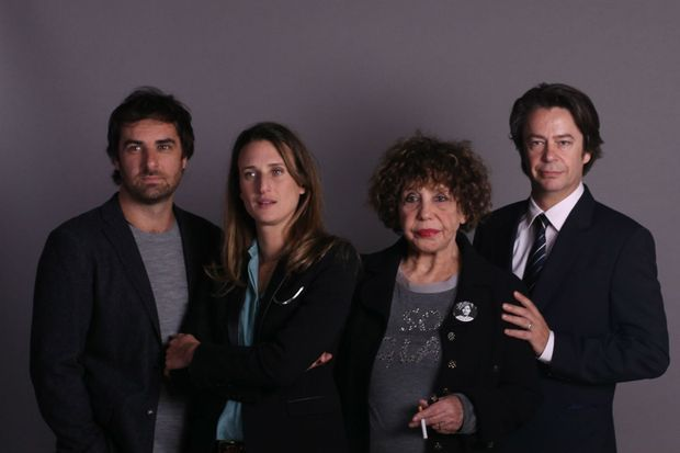 """Grégory Montel, Camille Cottin, Liliane Rovère et Thibault de Montalembert pour les débuts de la série """"Dix pour cent"""""""