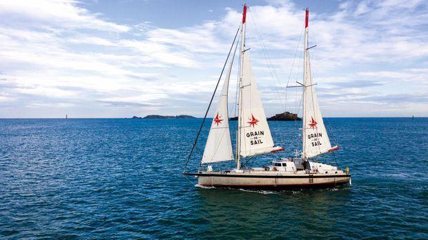 Le voilier de 24 mètres peut transporter jusqu'à 50 tonnes de marchandises.