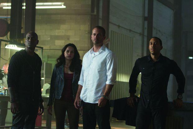 Paul Walker, entouré de Tyrese Gibson, Michelle Rodriguez et Ludacris