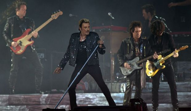 3-photos-culture-musique-Johnny Hallyday en tournée--
