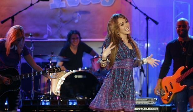 "<strong>Singer Miley Cyrus performs on ABC's ""Good Morning America"" in New York</strong>"