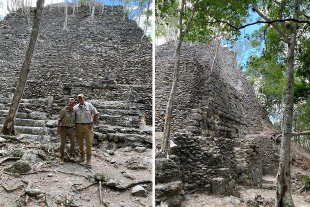 Pascal Drouhaud et Richard Hansen sur le site El Mirador.