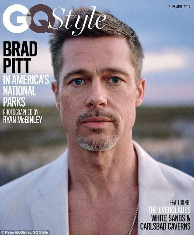 Brad Pitt en Une de GQ.