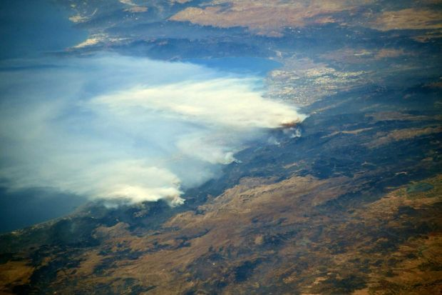 Les incendies en Turquie photographiés par Thomas Pesquet.