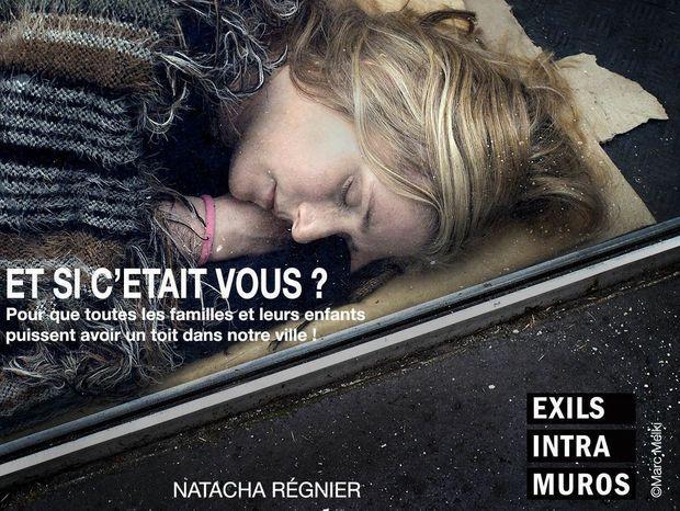 """Natacha Régnier pour """"Et si c'était vous?"""", l'action photographique, collective et solidaire lancée par Marc Melki."""
