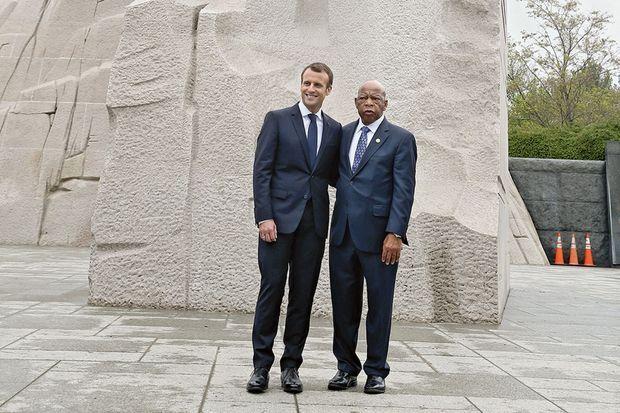 Au mémorial Martin-Luther-King, avec John Lewis.