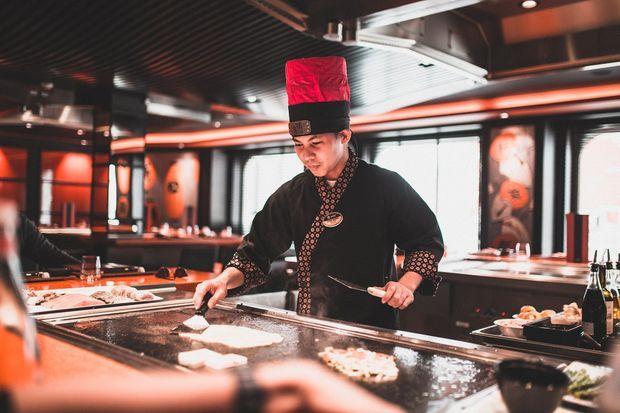 Un des restaurants du navire.