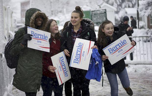 83 % des jeunes sont conquis lors du scrutin dans le New Hampshire.