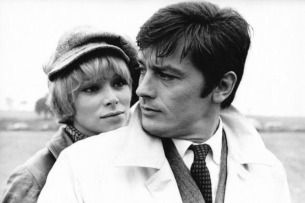 Mireille et Alain Delon en 1970.