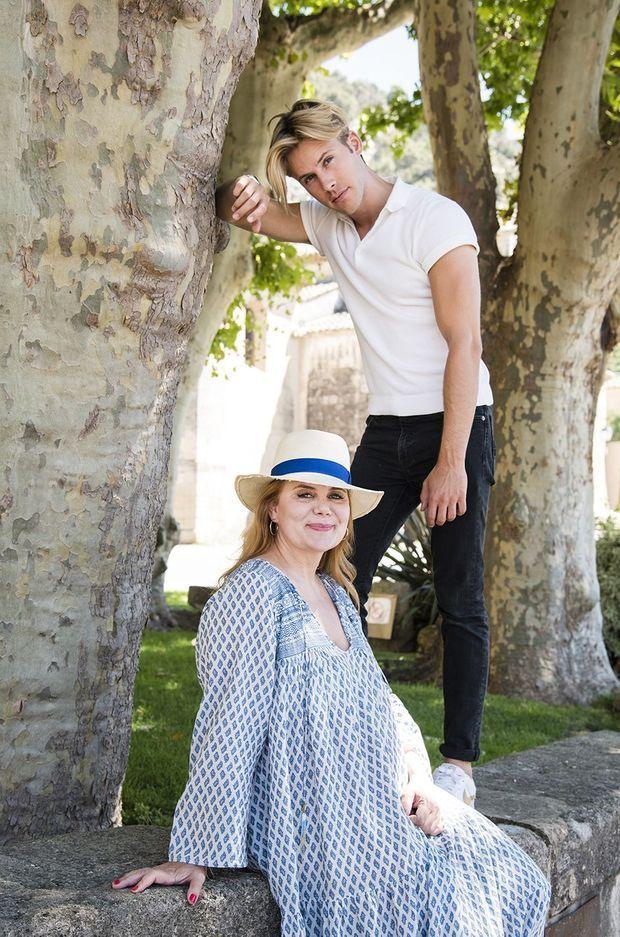 Ariane Séguiller et son fils Dorian Lauduique