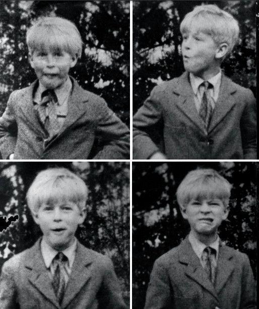 À 8 ans, à l'école The Elmes, à Saint-Cloud, une institution privée dirigée par une Américaine, pendant le concours « à qui avalera le plus vite un biscuit sans s'aider des doigts »...