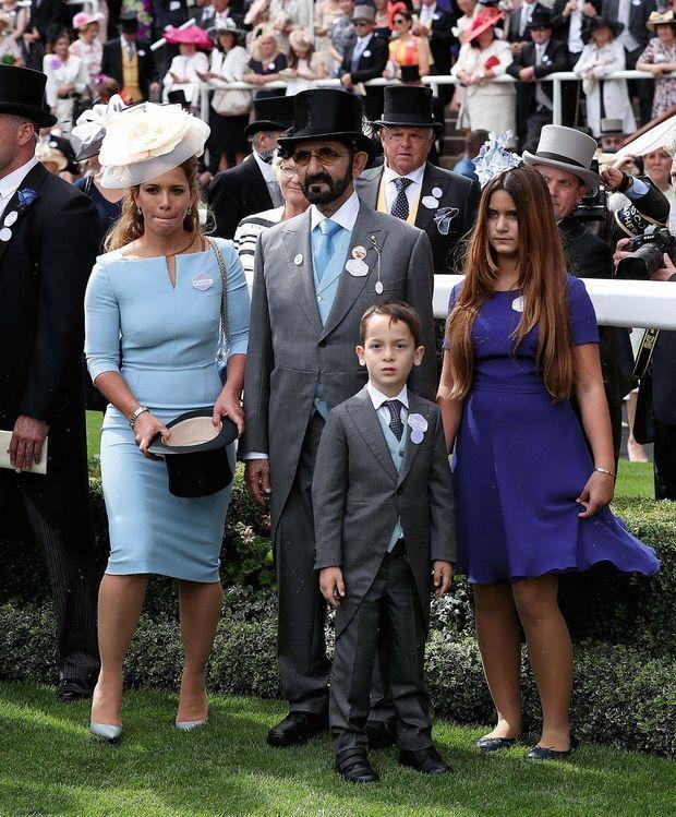A Ascot, en famille, avec Zayed, 5 ans, et Al-Jalila, 10 ans, en juin 2018.