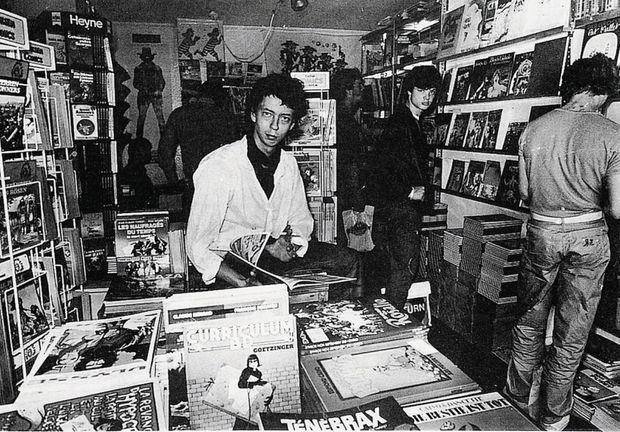 À Cologne, en 1980, le fondateur dans son premier magasin.