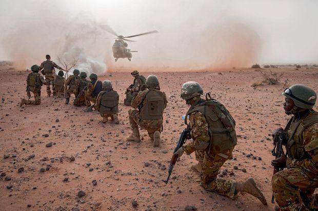 A Gao, à 300 kilomètres au sud de Kidal, pendant un exercice des forces spéciales maliennes entraînées par les Français.