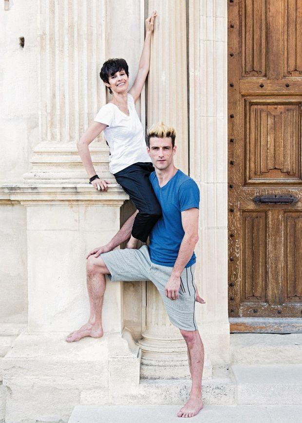 A Grignan, avec Julien Derouault, son alter ego, Pietragall