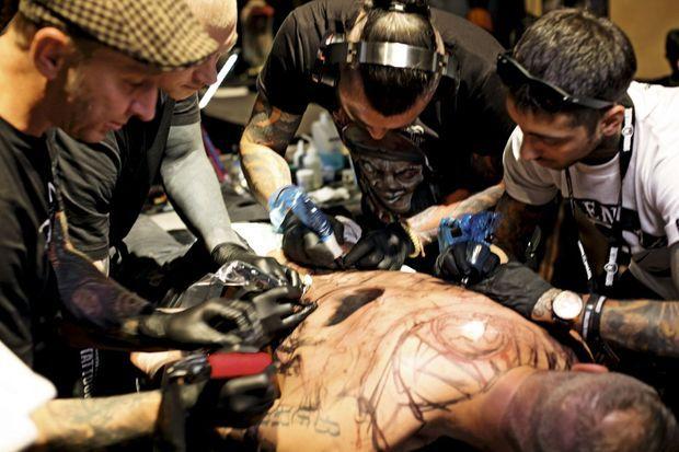 A la Tattoo Convention de Bâle