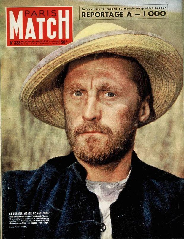 A la une de Match, dans le rôle de Van Gogh.