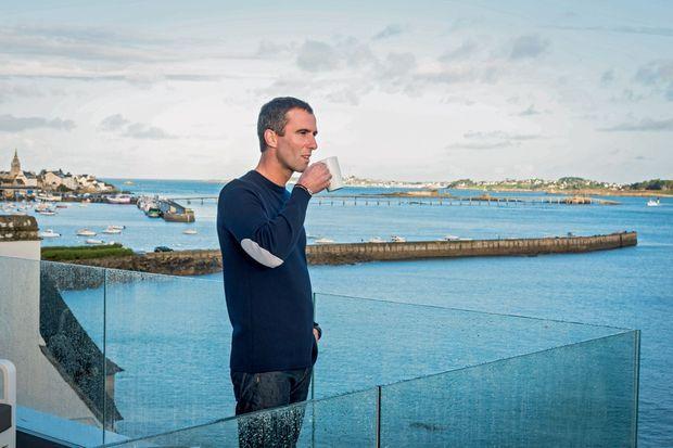A Roscoff, sur la terrasse de l'hôtel Brittany