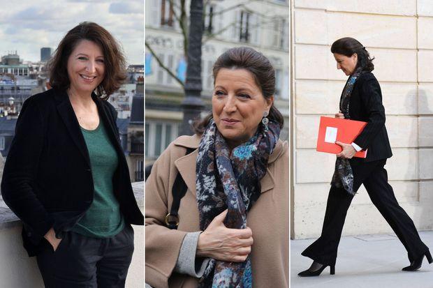 Agnès Buzyn, candidate en février 2020 et ministre (à droite) en janvier 2020
