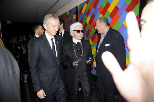 Bernard Arnault et Karl Lagerfeld.