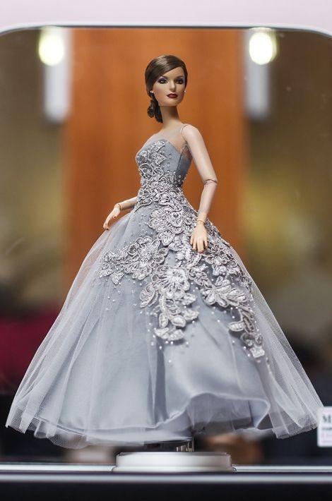 La poupée figurant la reine Letizia présentée à Madrid le 11 septembre 2015