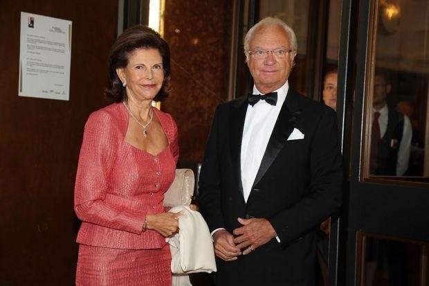 La reine Silvia et le roi Carl XVI Gustaf à Salzbourg, le 5 août 2016