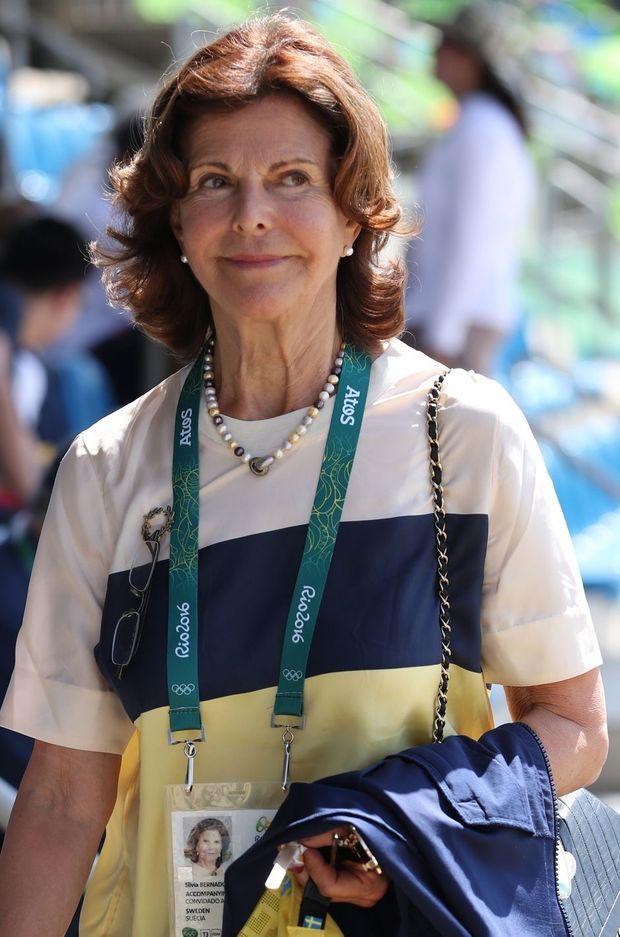 La reine Silvia de Suède aux JO de Rio, le 16 août 2016