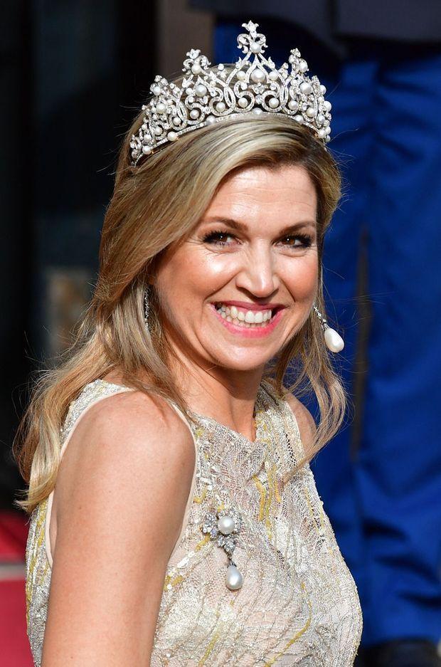 La reine Maxima des Pays-Bas coiffée du diadème Wurtemberg le 24 mai 2017