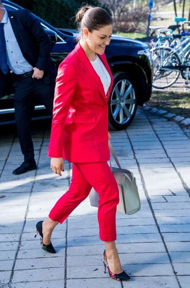 La princesse Victoria de Suède à Stockholm, le 19 avril 2018