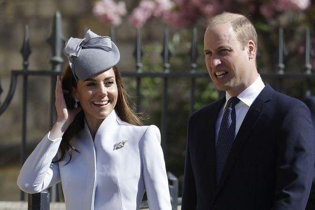 Kate et William lors de la messe de Pâques à Windsor le 21 avril 2019