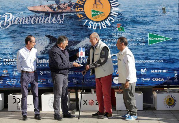 L'ancien roi Juan Carlos d'Espagne à Sanxenxo le 28 septembre 2019
