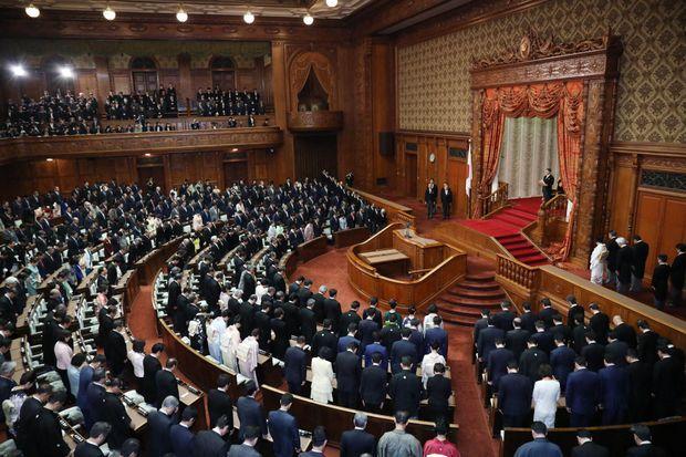 L'empereur Naruhito du Japon ouvre le Parlement à Tokyo, le 20 janvier 2020
