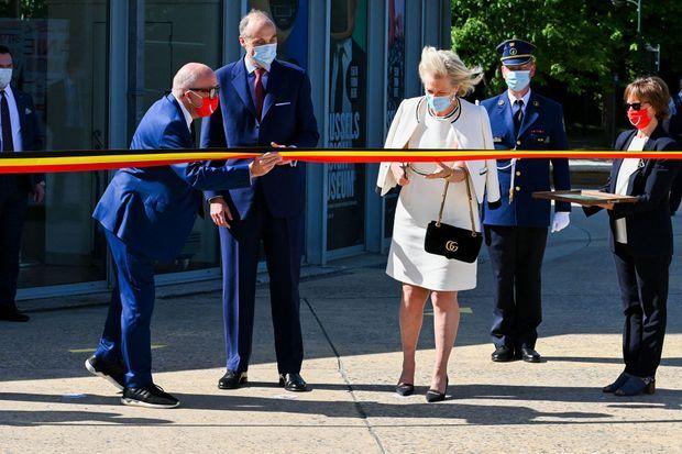 La princesse Astrid de Belgique et son mari le prince Lorenz à Bruxelles, le 1er juin 2020